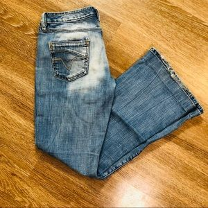 Diesel Jeans Distressed Boot Cut Flare Size 33